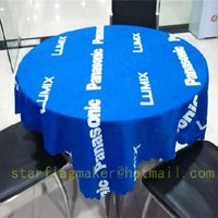 Promotional Table Covers, we are custom tablecloths maker, providing promotional table covers, custom tablecloths, table throws and table banners.