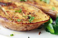 Baked Eggplant - easy delicious recipe, I just used one giant eggplant and cut it 5 time length wise to make slices. Baked up they are deeeelish