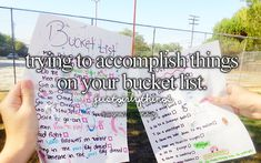 Trying to accomplish things on your bucket lost - just girly things