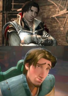 Flynn Rider totally looks like Ezio Auditore (Assassin's Creed)........ Only a geek would take a Disney character and compare them to an assassin (an awesome one but nonetheless). By the way just to let you know I'm not a geek