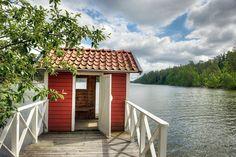 Stockholm Archipelago, Red Houses, Dementia, Coastal Living, Cabins, Cottages, Summer Time, Scandinavian, Villa