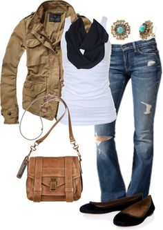 cute outfit, I'd wear some cute dark skinny jeans w/ this :)