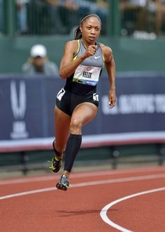 Allyson Felix: After winning silver in the 200m in Athens and Beijing Felix is aiming for multiple sprint medals in London.