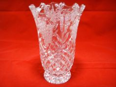 Shannon Blue Crystal Vase By Godinger 78