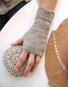 Shallows Fingerless Mitts Knitting Pattern PDF by bluepeninsula