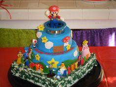 Super Mario Brothers Cake! Lucas' 4th Birthday!~