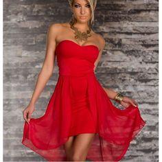 Robe bustier rouge jennifer
