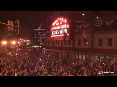 Cubs moment outside Wrigley Field as Chicago #Cubs win #BREAKING #WorldS...                                                                                                                                                                                 More