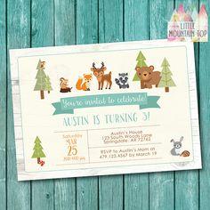 Hey, I found this really awesome Etsy listing at https://www.etsy.com/pt/listing/269588383/woodland-birthday-invitation-woodland