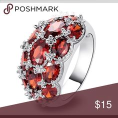 Fashion Red Garnet Gems 925 Silver Ring Handmade Fashion Red Garnet Gems 925 Silver Ring Handmade Jewelry Jewelry Rings