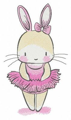 Tiny bunny ballerina machine embroidery design from Bunnies machine embroidery collection is ideal design for girl's hoodies. Border Embroidery, Types Of Embroidery, Hand Embroidery Designs, Embroidery Online, Tiny Bunny, Cute Bunny, Bernina Embroidery Machine, Bunny Nursery, Photo Stitch