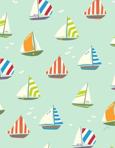 Sail my boat sail away pattern