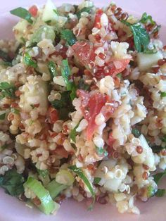 Salade libanaise Quinoa/ Boulgour Middle Eastern Dishes, Coleslaw, Light Recipes, Pasta Salad, Entrees, Potato Salad, Bbq, Nutrition, Food And Drink