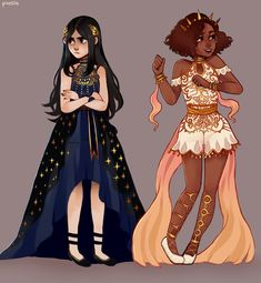 character art My OCs! I haven't settled on names for them yet (or a story) but I do know that they're princesses and gfs Arte Do Kawaii, Arte Fashion, Art Mignon, Cute Art Styles, Art Reference Poses, Character Drawing, Character Design Animation, Fantasy Character Design, Pretty Art