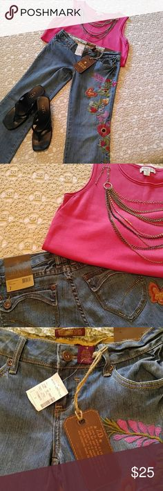 ZANA DI JEANS New with tags! A snazzy pair of jeans to dress up, or comfort casual. A must for any Push closet. Actual size is 7. Zane Di Jeans Jeans Boot Cut
