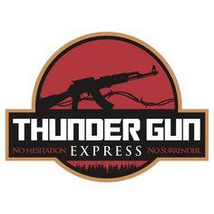 """Thunder Gun Express"" movie logo"