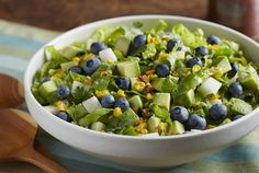 Driscoll's Mexican Salad with Blueberries, Corn & Avocado from our Cooking School Partner @Driscoll's Berries   www.driscolls.com