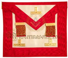 Masonic Past Master Apron Red Grand Lodge, Aprons, Past, Frame, Red, Picture Frame, Past Tense, Apron Designs, Frames