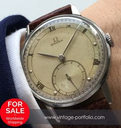 Genuine Vintage Omega Watch from the 2. World War wk2 ww2, Vintage #omega #omegawatches #omegavintage