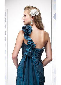 Elegant Taffeta Mermaid One Shoulder Prom Dress In Fashion Design
