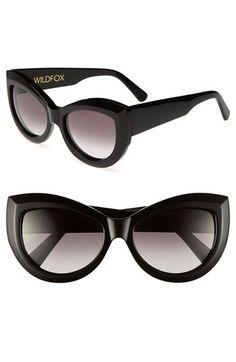 I have been keeping my eyes open for the perfect cateye sunglasses for the past few seasons - these could be it! (Wildfox Kitten 56 mm)