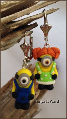 Minion Earrings Despicable Me Inspired Minions by TonyaLWard