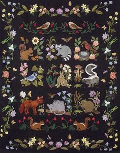 Woodland Creatures Quilt Kit  | Keepsake Quilting -- I adore this quilt, but it doesn't come in King, only Full.  Too bad, or I'd be seriously temped to make it.