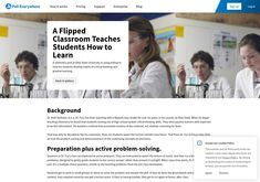 A flipped classroom teaches students how to learn