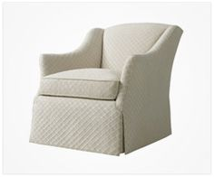 Sutton Chair shown in Nadia Trellis in Cream from Residence Wovens #Thibaut