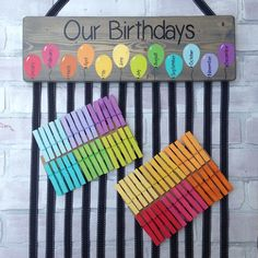 Birthday Chart Balloons - class birthdays - classroom decor - rainbow – Lillou Handmade The Effectiv Birthday Calendar Board, Family Birthday Board, Birthday Wall, Birthday Dates, Birthday Balloons, Birthday Signs, Birthday Calendar Classroom, Diy Birthday, Class Birthdays
