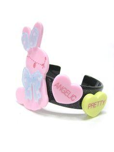 Angelic Pretty: Dreamy Bunny Bangle in black