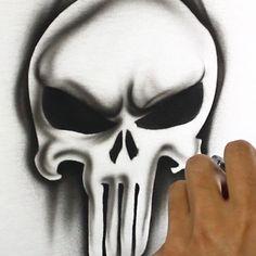 Amazing Handmade Punisher spray paint hoodie sweatshirt in 30 secs. The Punisher, Punisher Logo, Airbrush Designs, Airbrush Art, Guitar Painting, Guitar Art, Hoodie Sweatshirts, Punisher Skull Tattoo, Comic Art