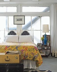 Quirky & Bright Bedroom // from Grace Bonney's Design*Sponge at Home // Photographer William Brinson