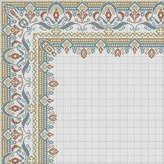 Cross Stitch Borders, Cross Stitch Rose, Cross Stitch Embroidery, Embroidery Patterns, Cross Stitch Patterns, Palestinian Embroidery, Native American Beadwork, Bargello, Knit Or Crochet