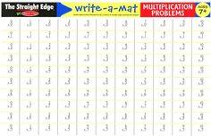 Multiplication Problems Write-A-Mat #Disney