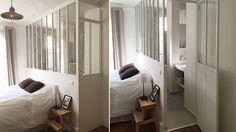 Création d'une verrière intérieure dans une chambre et sa salle de bains