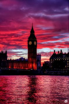 Big Ben, London, England (45 photos): big ben london red sky at sunset