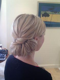 Classic bridesmaids hair