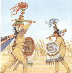 Warriors with Ichcahuipilli - Aztec quilted armour