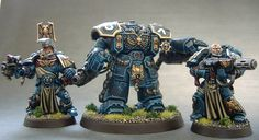 Space Marines veterans and centurion by Cezarreo