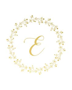 Custom Monogram Real Gold Foil Print Nursery Art Gold by rmprintco E Letter Design, Letter Wall Art, Baby Tattoos, Gold Foil Print, Motif Floral, Instagram Highlight Icons, Pottery Painting, New Baby Gifts, Lettering Design