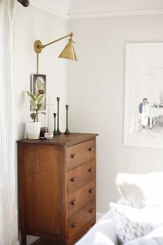 Bedroom dresser vignette