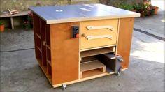 Home made router table & table saw cabinet / Fresadora- Circular de mesa