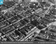 Beecham's Clock Tower and Factory, St Helens, 1927. Click on the pic to go to labelled version showing lots. Join up free to zoom in detail.