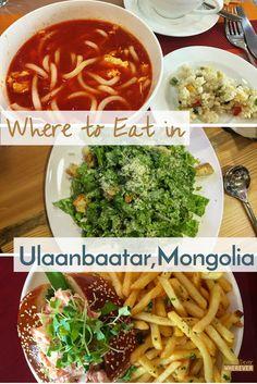 Where to eat in Ulaanbaatar Mongolia | Vegetarian guide to Mongolia | What to eat in Mongolia