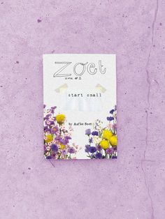 The first edition of ZOET; start small  this zine is about starting small and growing into something beautiful. It has drawings, poems, little thoughts and mixed media in it.  • 16 pages incl cover&back • hand numbered and signed • hand sewn • full colour  Made with lot of care <3  --limited edition of 25