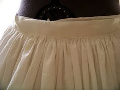 Stroked Gathers Tutorial. Petticoat instructions.