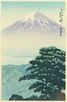 hanga gallery . . . torii gallery: Mt. Fuji from Misaka by Kawase Hasui     1920