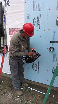 Home exterior on pinterest vinyl siding vinyl siding for Sheathing house wrap