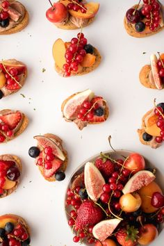 Mocha Fruit Crostini